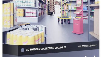 CGAxis – Supermarket Equipment 3D Models Collection – Volume 112 free download