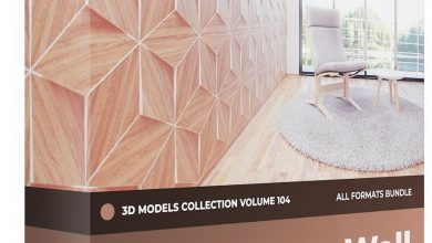 CGAxis – Wall Panels 3D Models Collection – Volume 104 free download