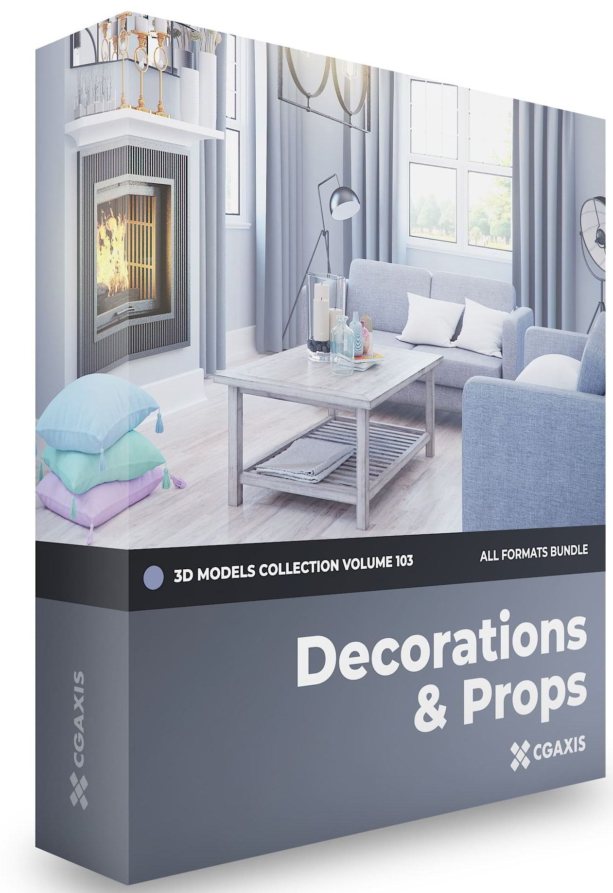 CGAxis Decorations 3D Models Collection Volume 103 free download