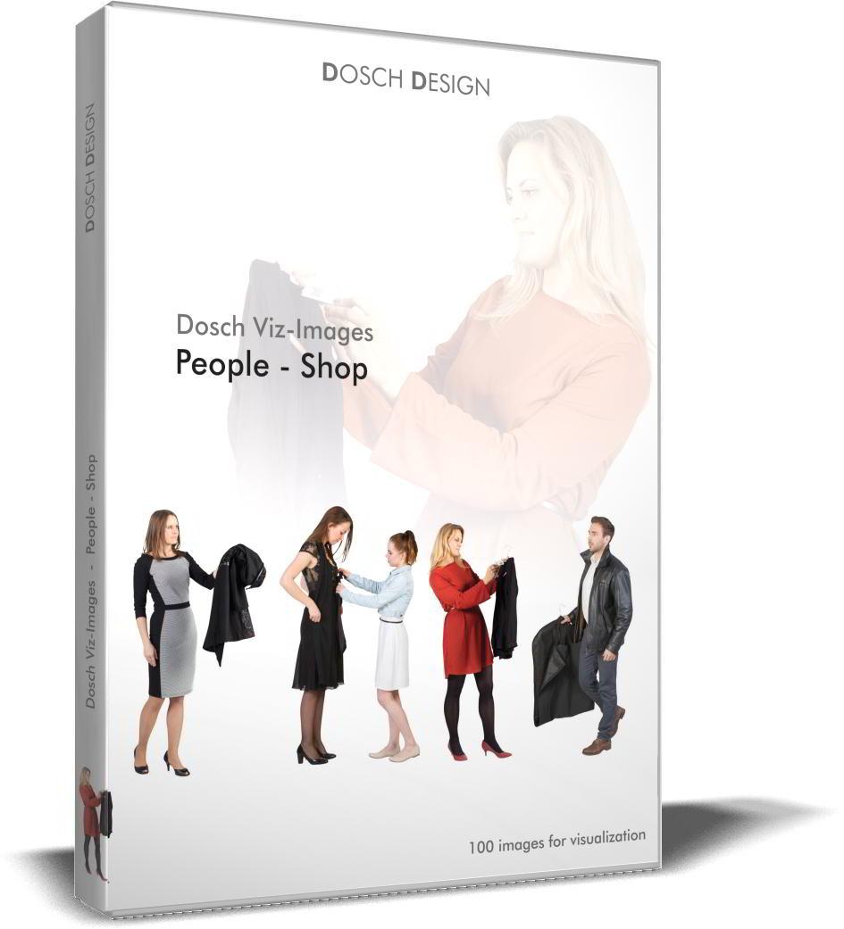 DOSCH 2D Viz-Images - Artlantis Billboards - People - Shop free download