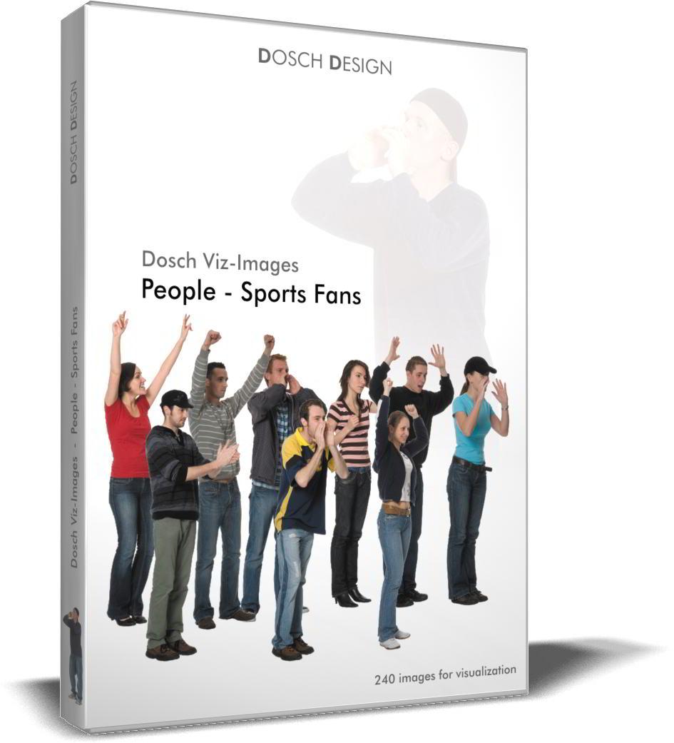 DOSCH 2D Viz-Images - Artlantis Billboards - People - Sports Fans free download