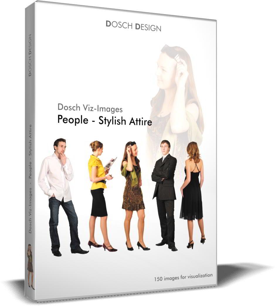 DOSCH 2D Viz-Images - Artlantis Billboards - People - Stylish Attire free download