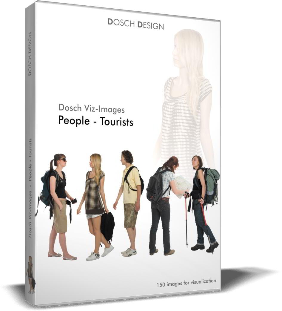 DOSCH 2D Viz-Images - Artlantis Billboards - People - Tourists free download