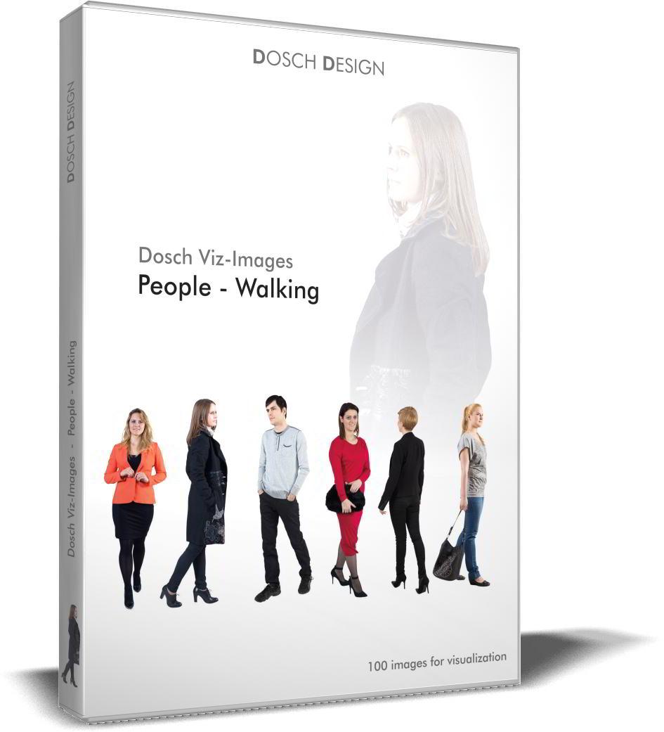 DOSCH 2D Viz-Images - Artlantis Billboards - People - Walking free download