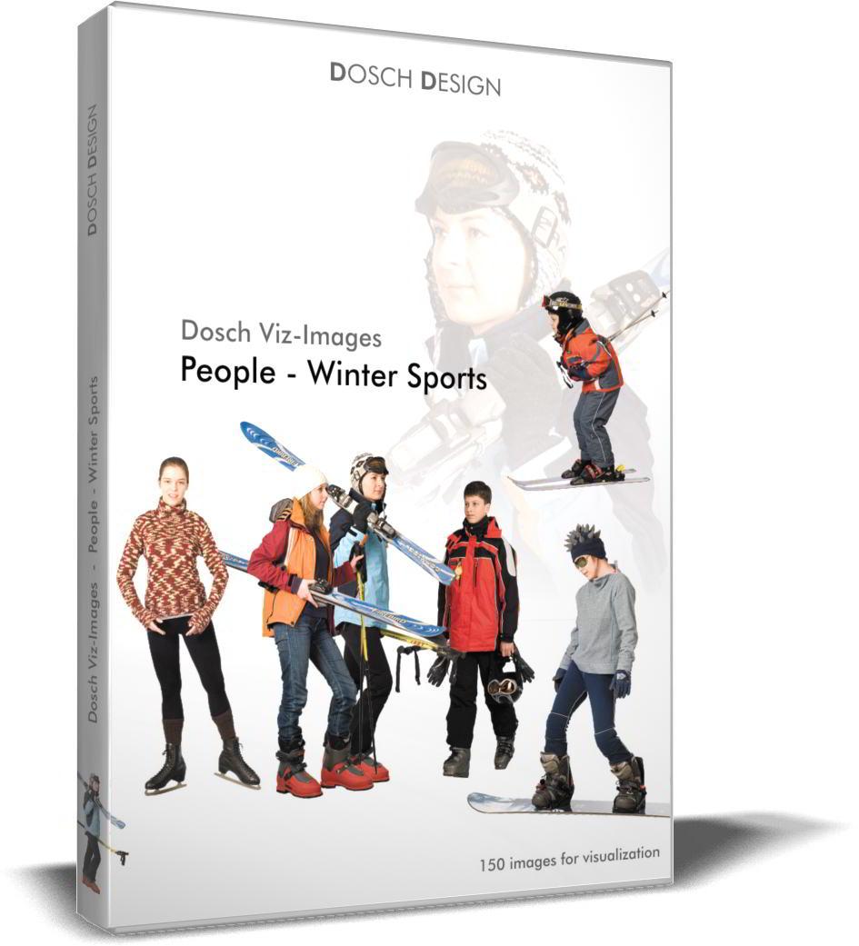 DOSCH 2D Viz-Images - Artlantis Billboards - People - Winter Sports