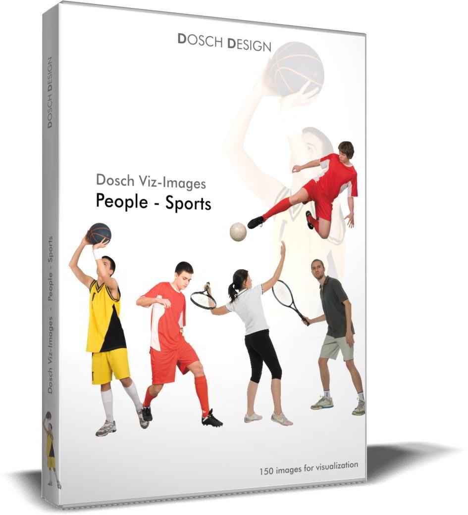 DOSCH 2D Viz-Images - Artlantis Billboards - People - Sports free download
