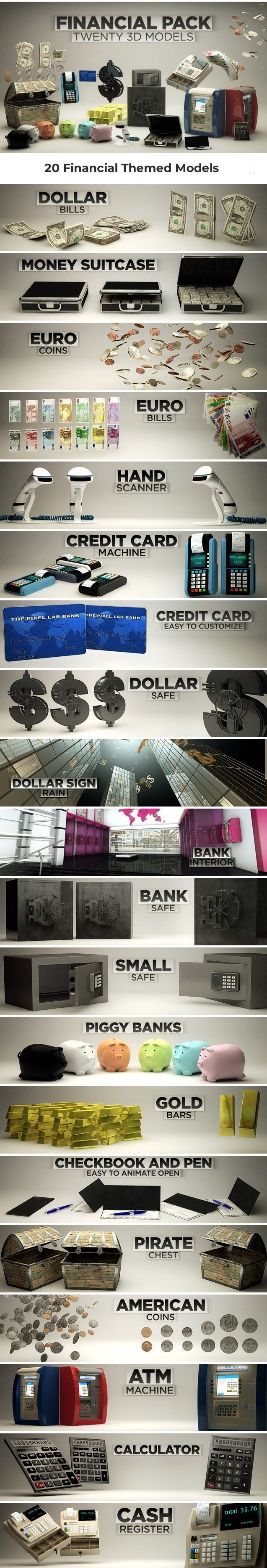Financial Pack for Cinema4D