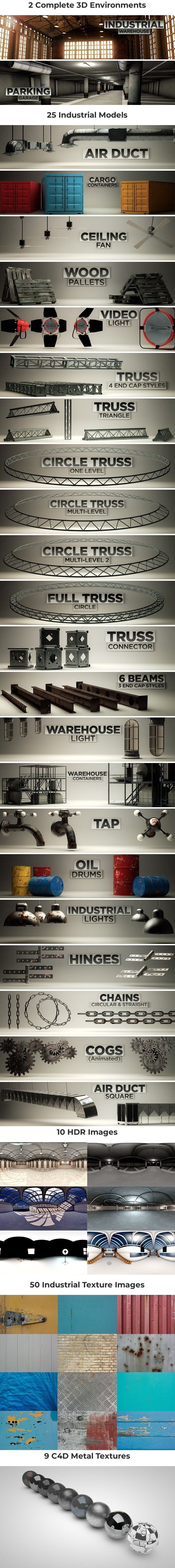 Industrial Pack for Cinema4D