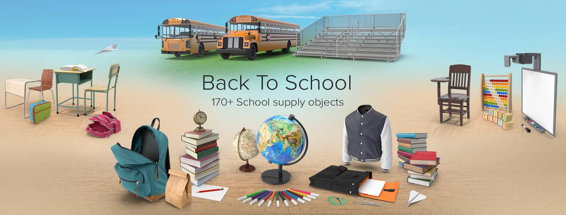 PixelSquid – Back to School Collection free download