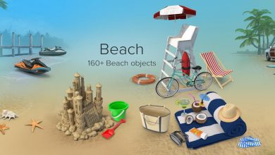 PixelSquid – Beach Collection free download