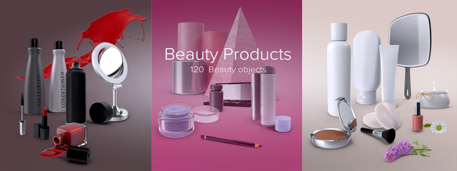 PixelSquid – Beauty Products Collection free download