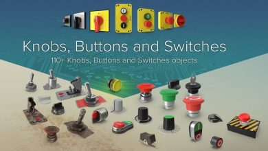 PixelSquid – Buttons and Switches Collection free download