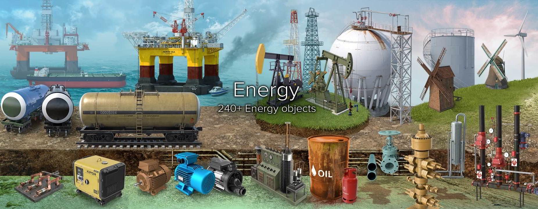 PixelSquid – Energy Collection free download