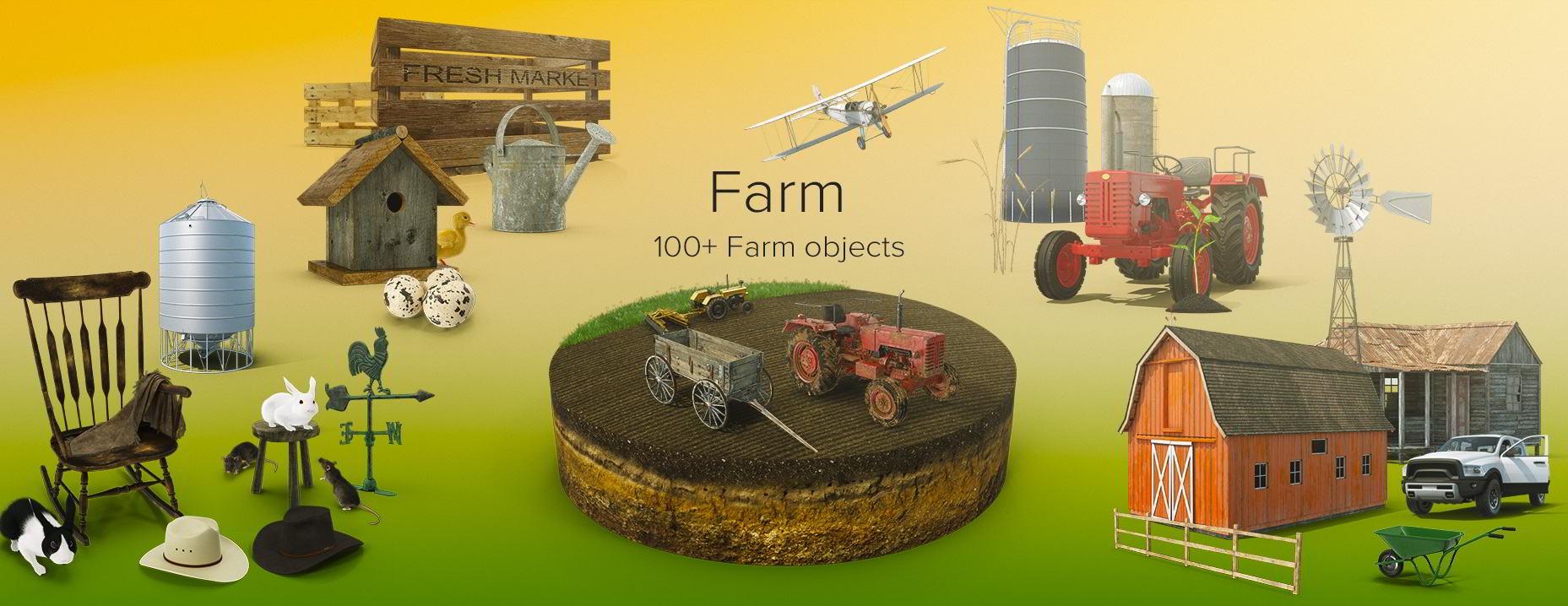 PixelSquid – Farm Collection free download