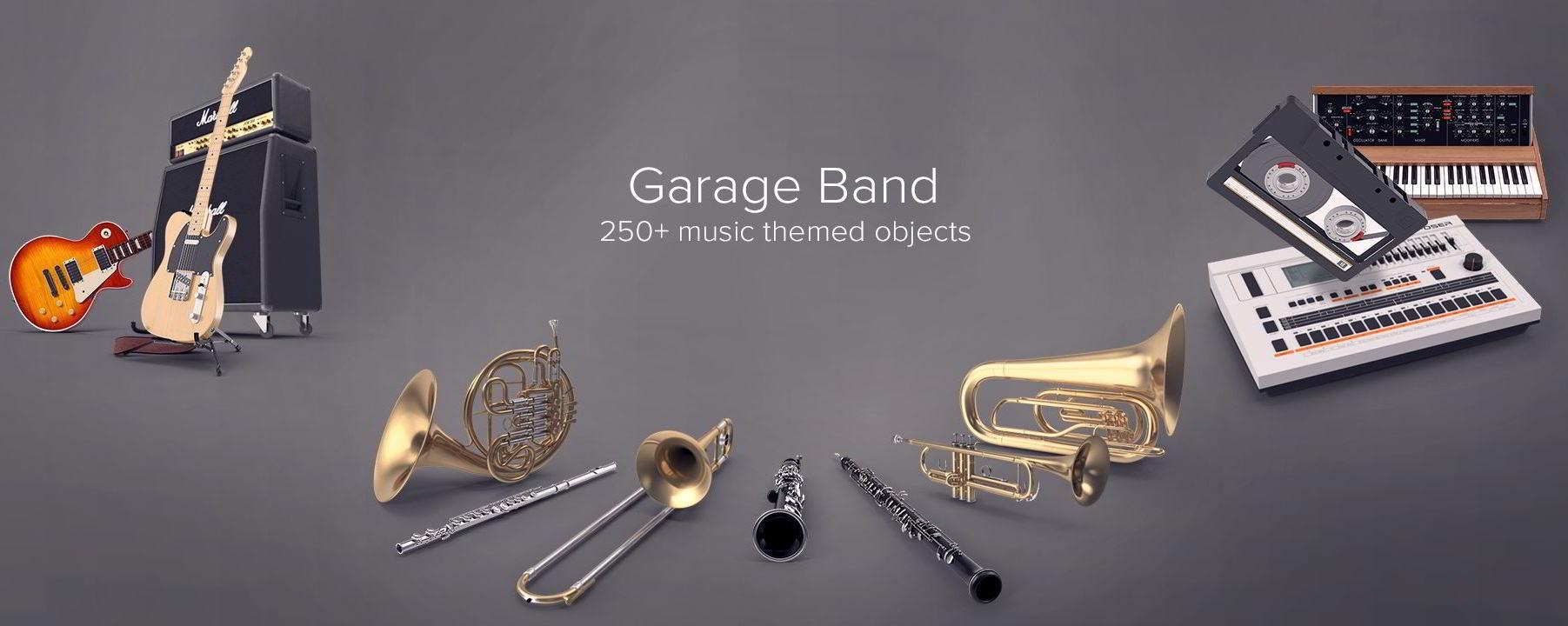 PixelSquid – Garage Band Collection free download