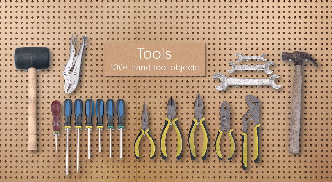 PixelSquid – Hand Tools Collection free download