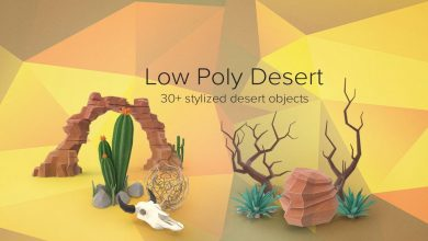 PixelSquid – Low Poly Desert Collection free download