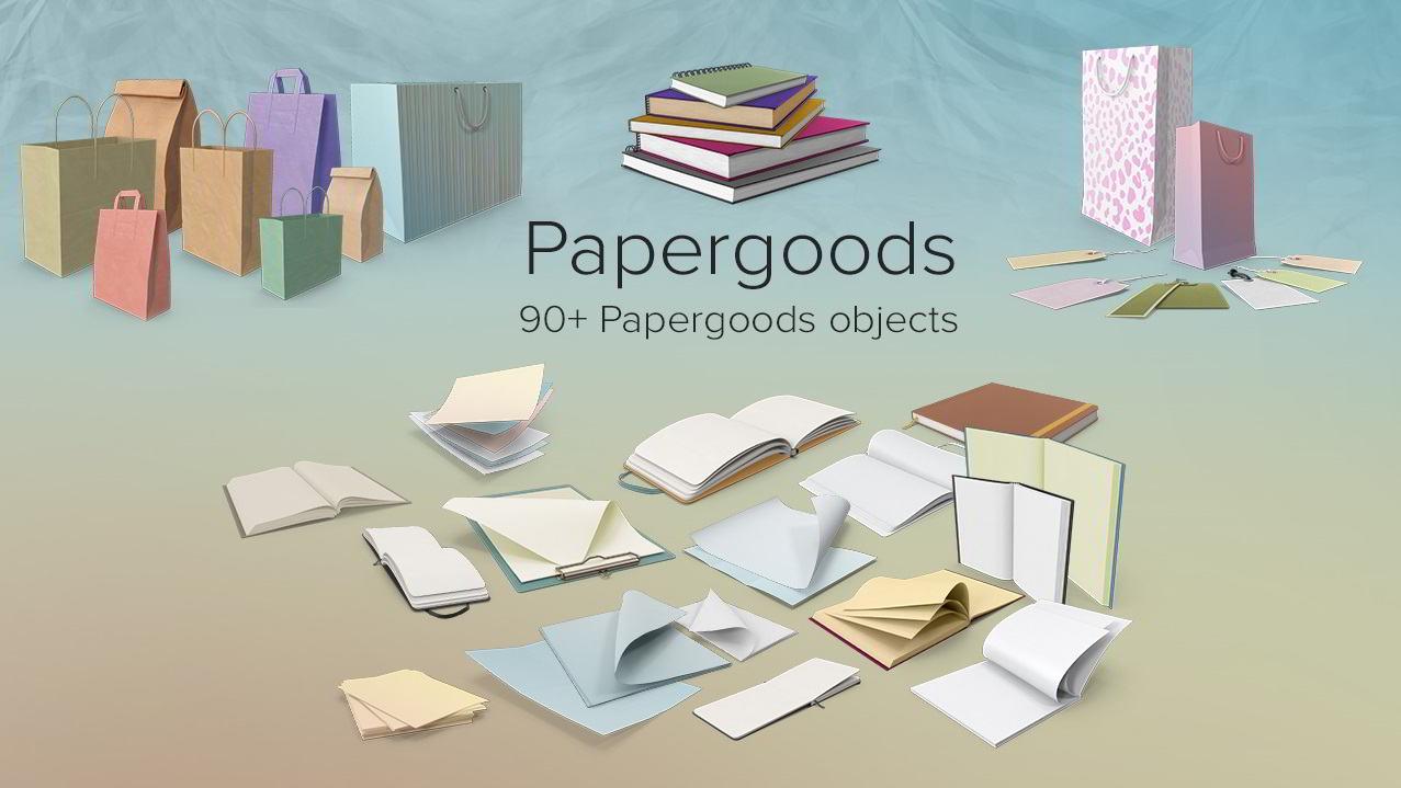 PixelSquid – Papergoods Collection free download