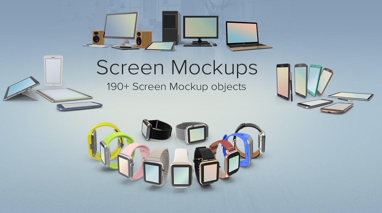 PixelSquid – Screen Mockup Collection free download
