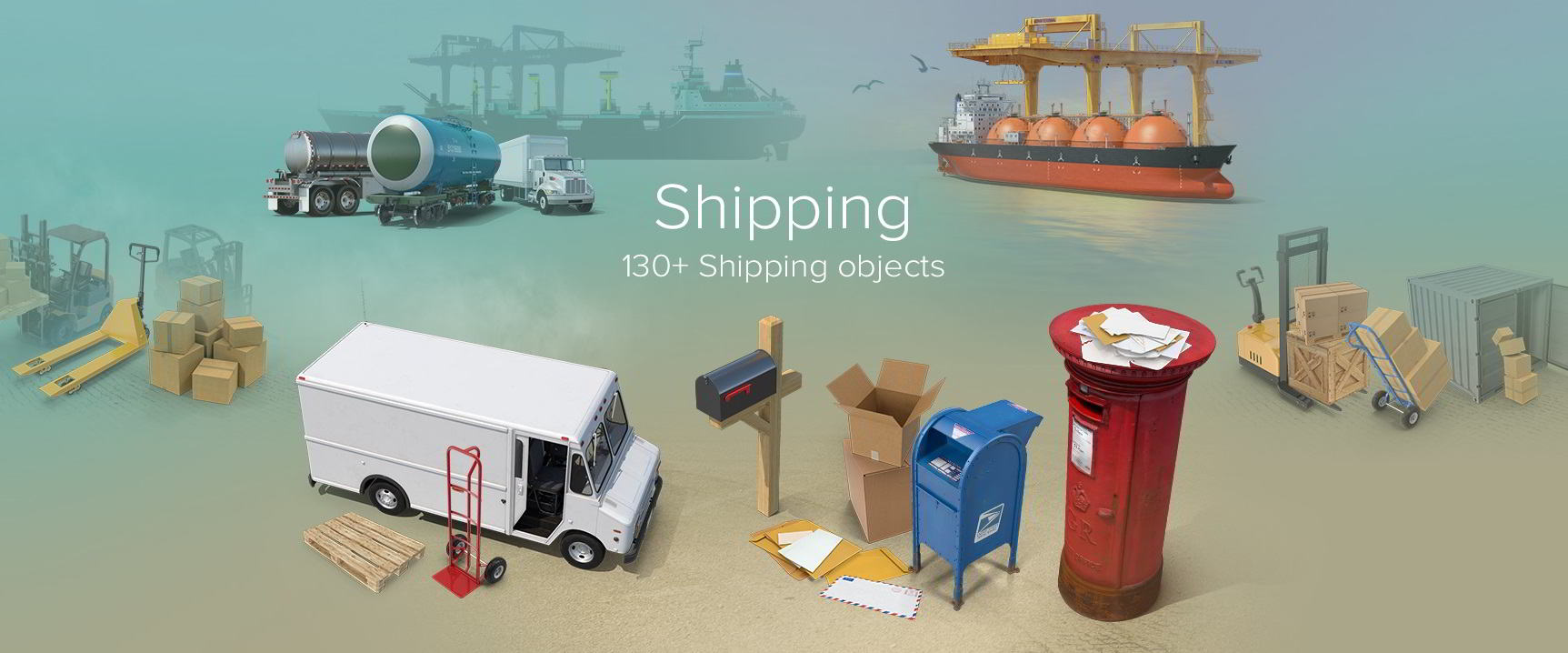 PixelSquid – Shipping Collection free download