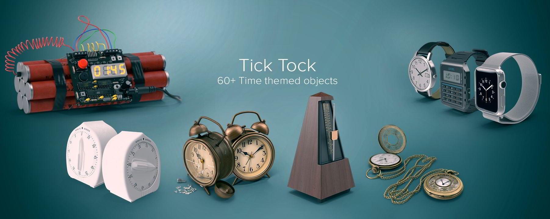 PixelSquid – Tick Tock Collection free download
