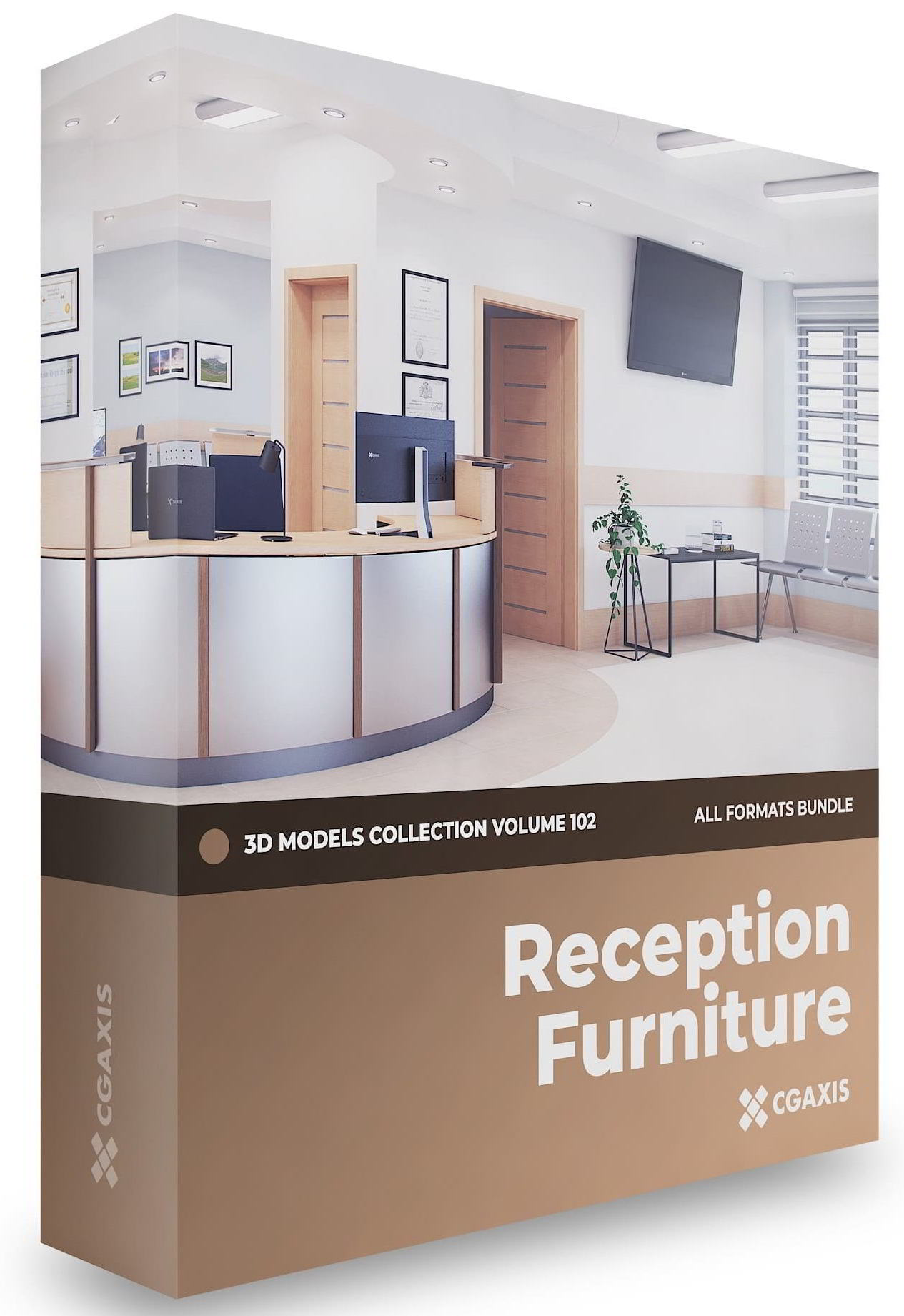 CGAxis Reception Furniture 3D Models Collection Volume 102 free download
