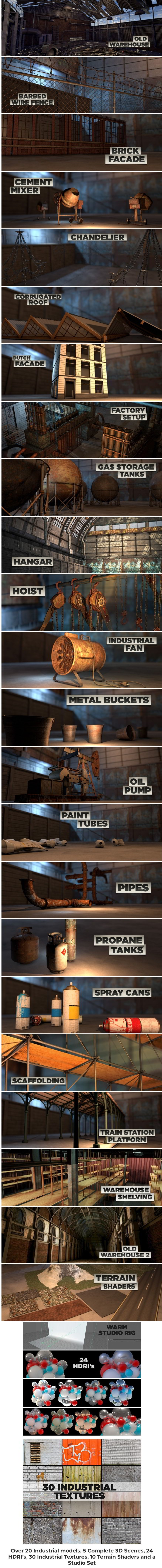 Industrial Pack 2 for Cinema 4D