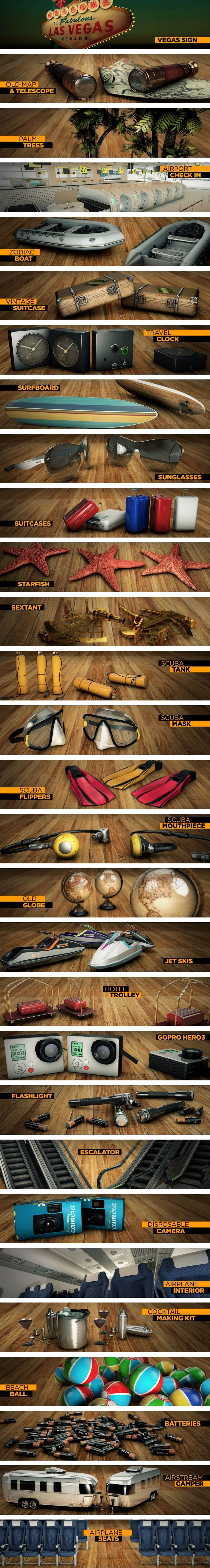 The Pixel Lab – Travel Pack for Cinema 4D