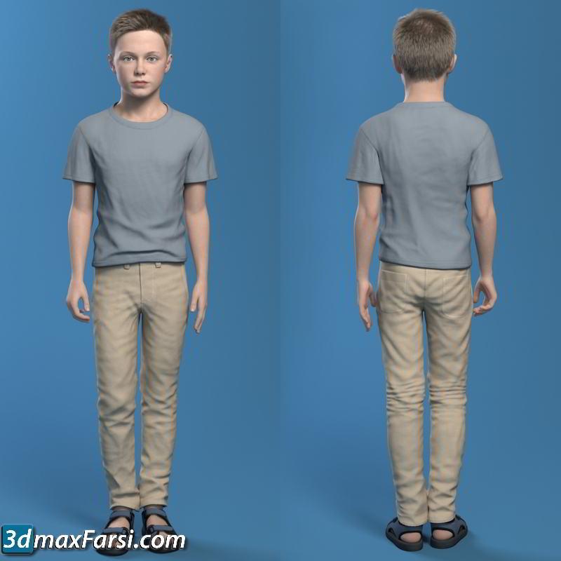 Turbosquid – Boy child Rigged (Ben 2_ 3D model) download
