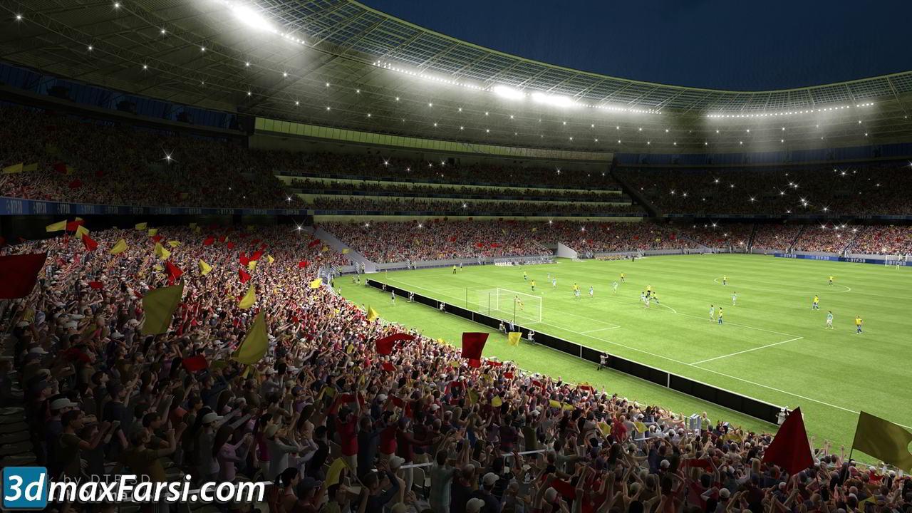 TurboSquid – Soccer Stadium free download