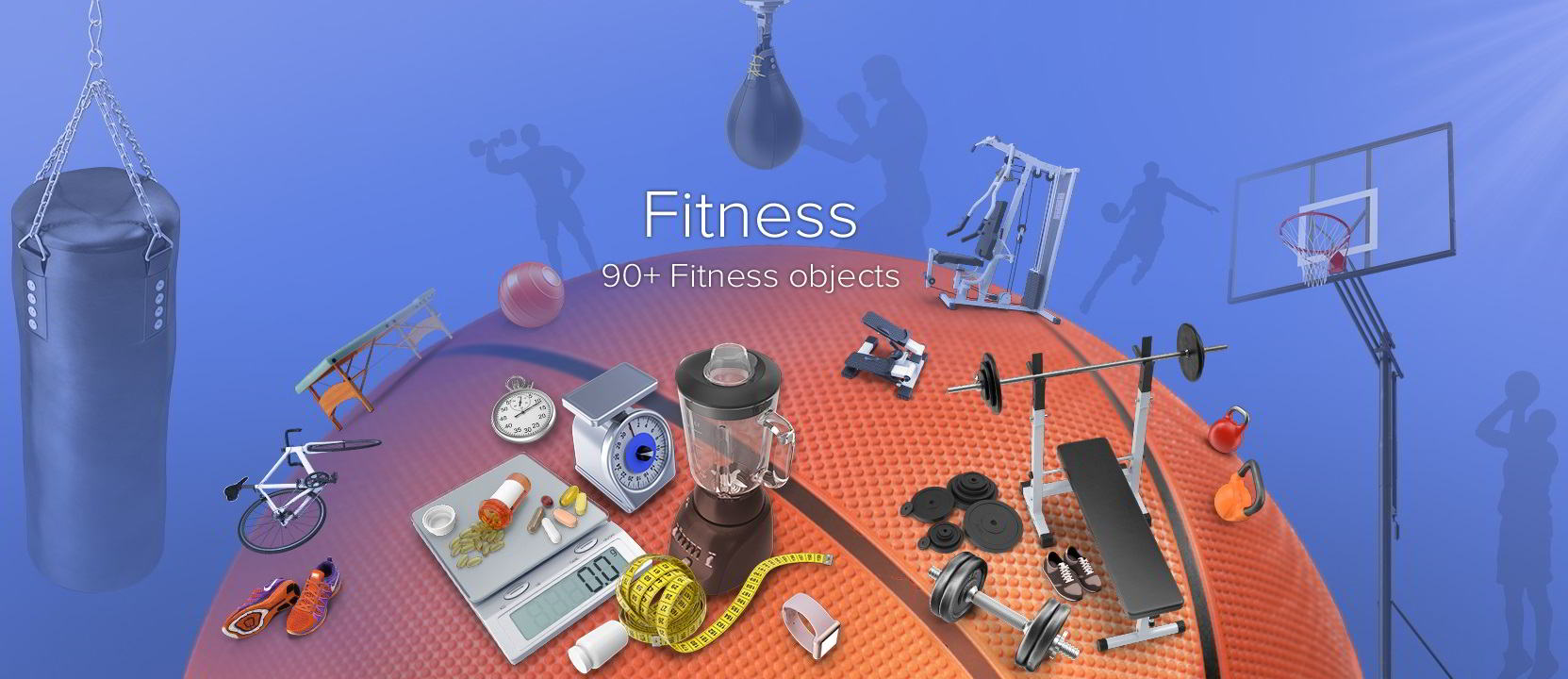 PixelSquid – Fitness Collection free download