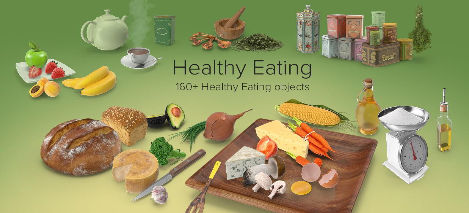 PixelSquid – Healthy Eating Collection free download