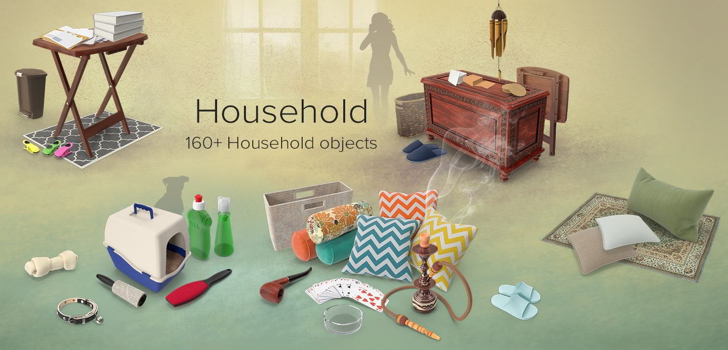 PixelSquid – Household Collection free download