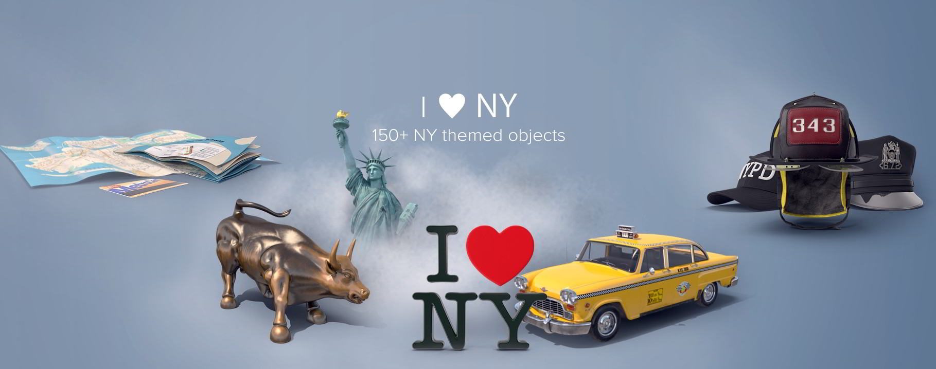 PixelSquid – I Love NY Collection free download