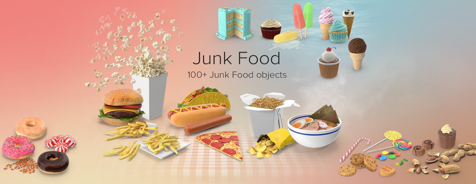 PixelSquid – Junk Food Collection free download