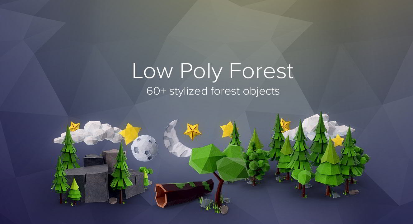 PixelSquid – Low Poly Forest Collection free download