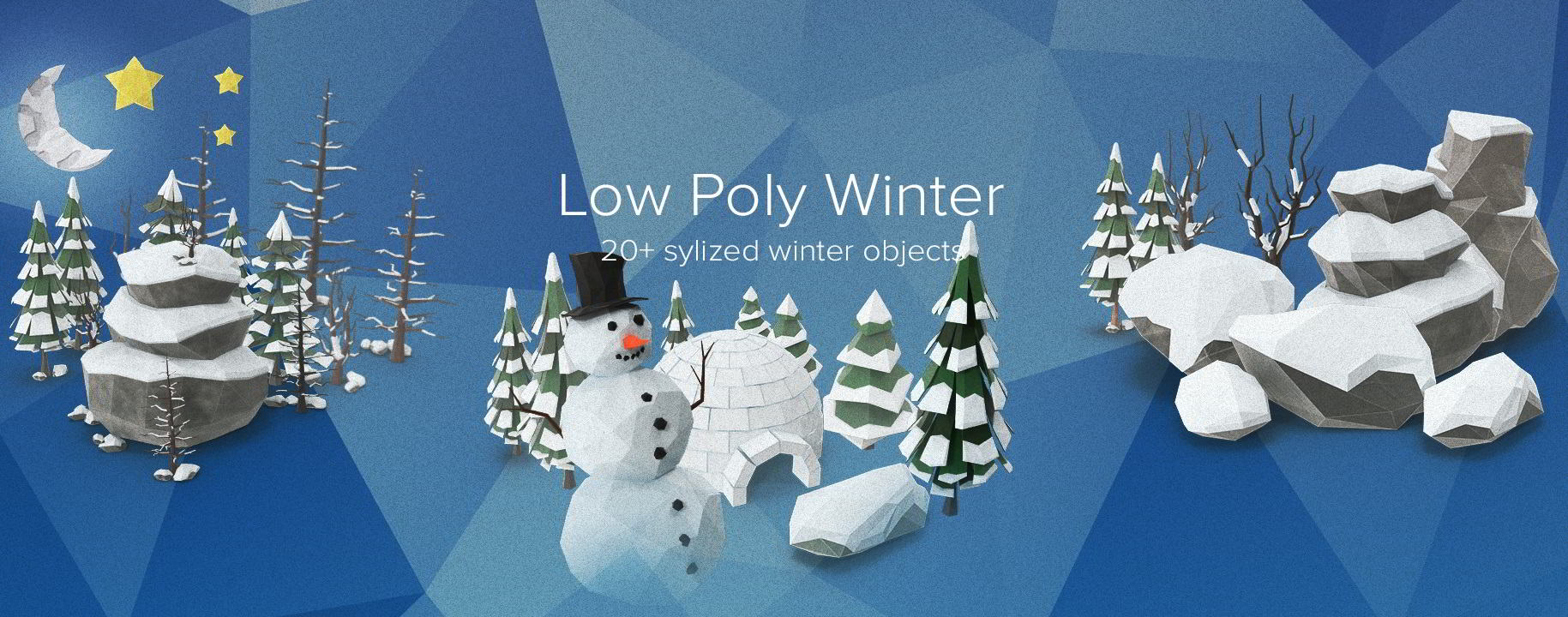 PixelSquid – Low Poly Winter Collection free download