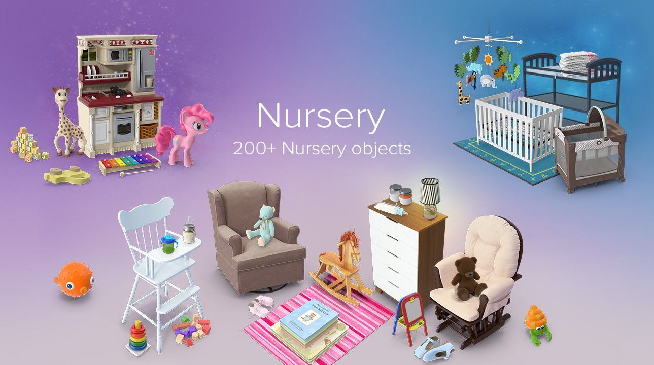 PixelSquid – Nursery Collection free download