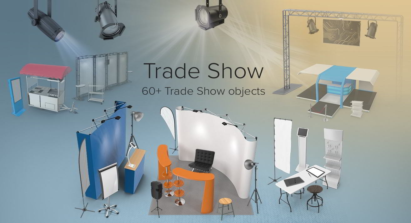 PixelSquid – Trade Show Collection free download