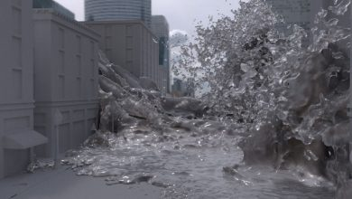 Flooding a City with Bifrost in Maya free download