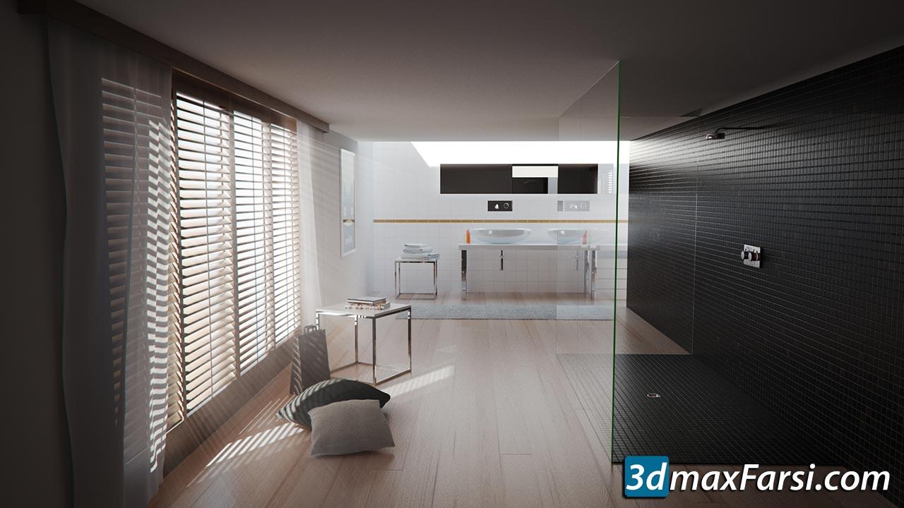 Curse-Studio - Interior Bathroom Tutorial VrayForC4D free download