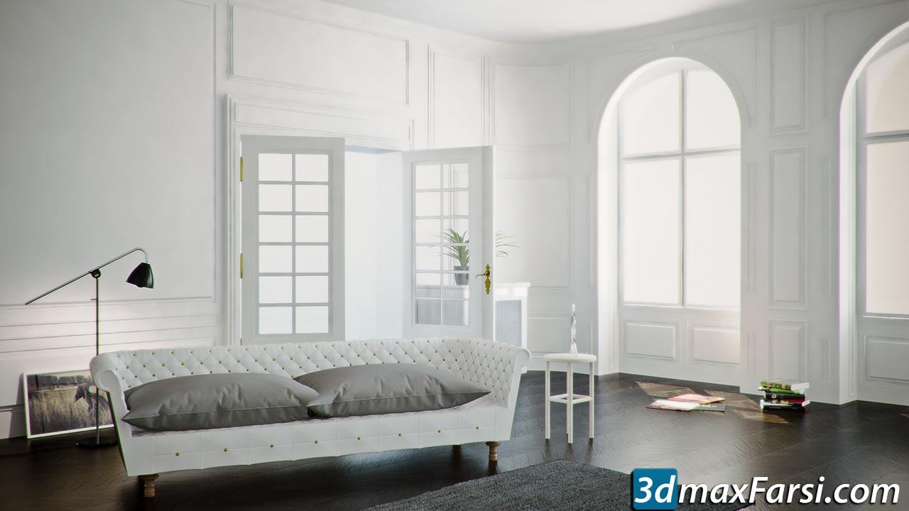 The Antique Interior Tutorial VrayForC4D Edition free download