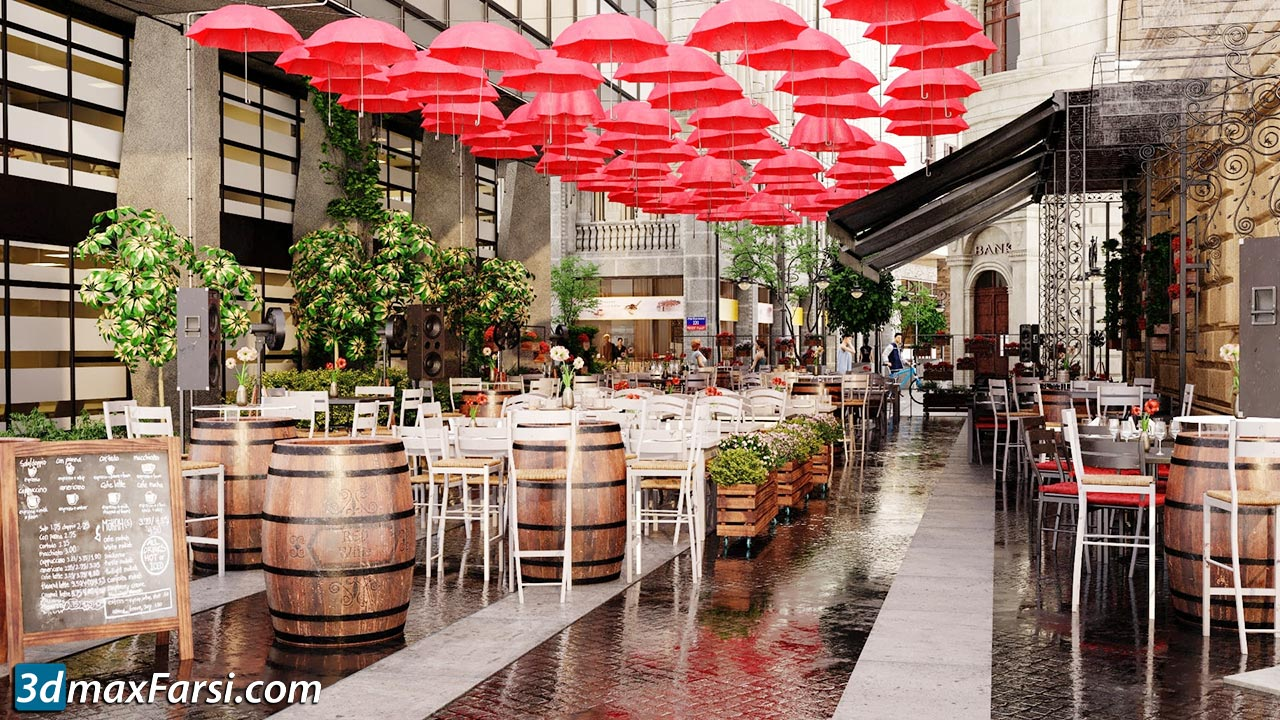Evermotion Archexteriors vol. 36 free download restaurants and cafes