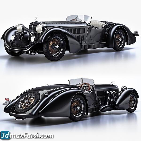 TurboSquid – Mercedes-Benz SS Roadster 1930 Erdmann&Rossi retro legend sport cabriolet free download