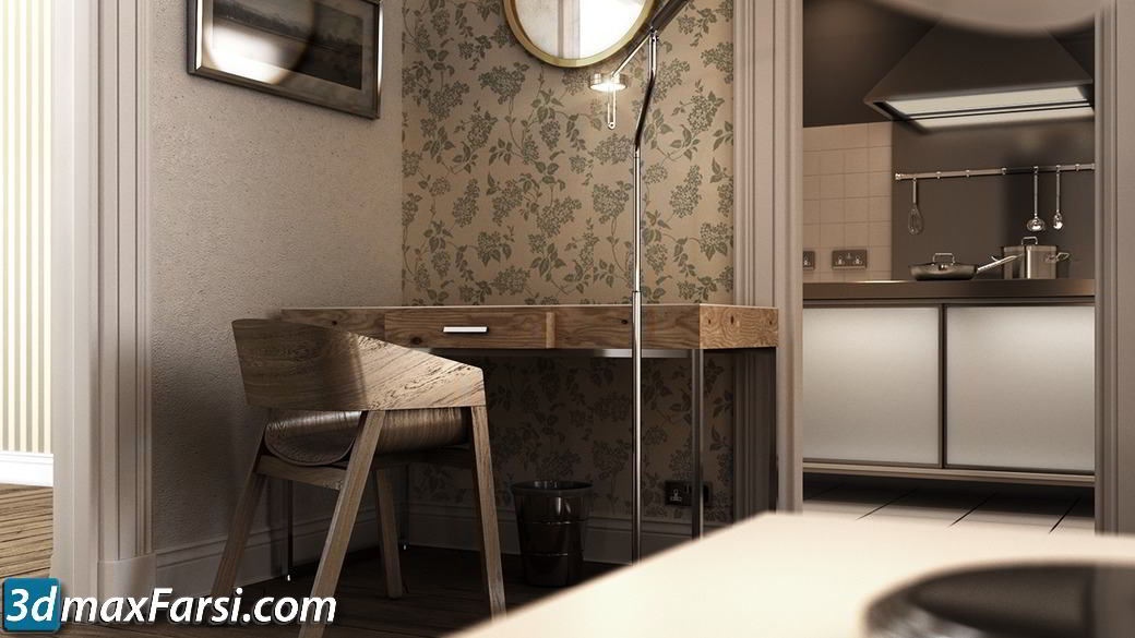 Modeling Lighting and Rendering Interior Visulizations in 3ds Max free download