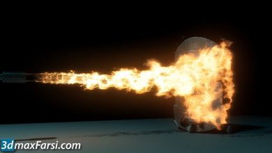 Simulating a Flamethrower Effect in Maya free download