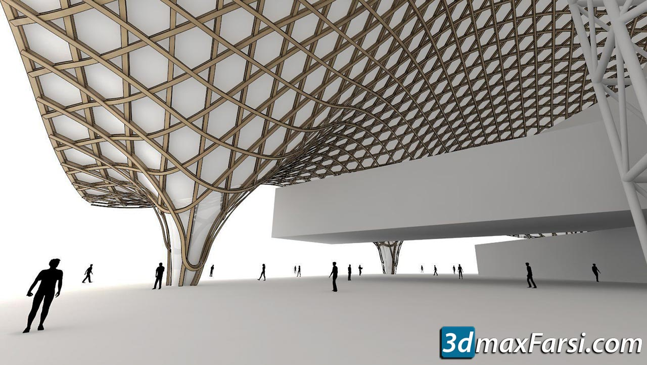 ThinkParametric - Roof Structure (Centre Pompidou Metz) free download