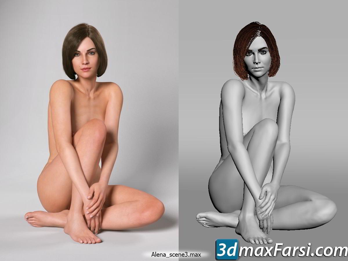 Alena (Zelax3d) free download 3ds Max, FBX characters