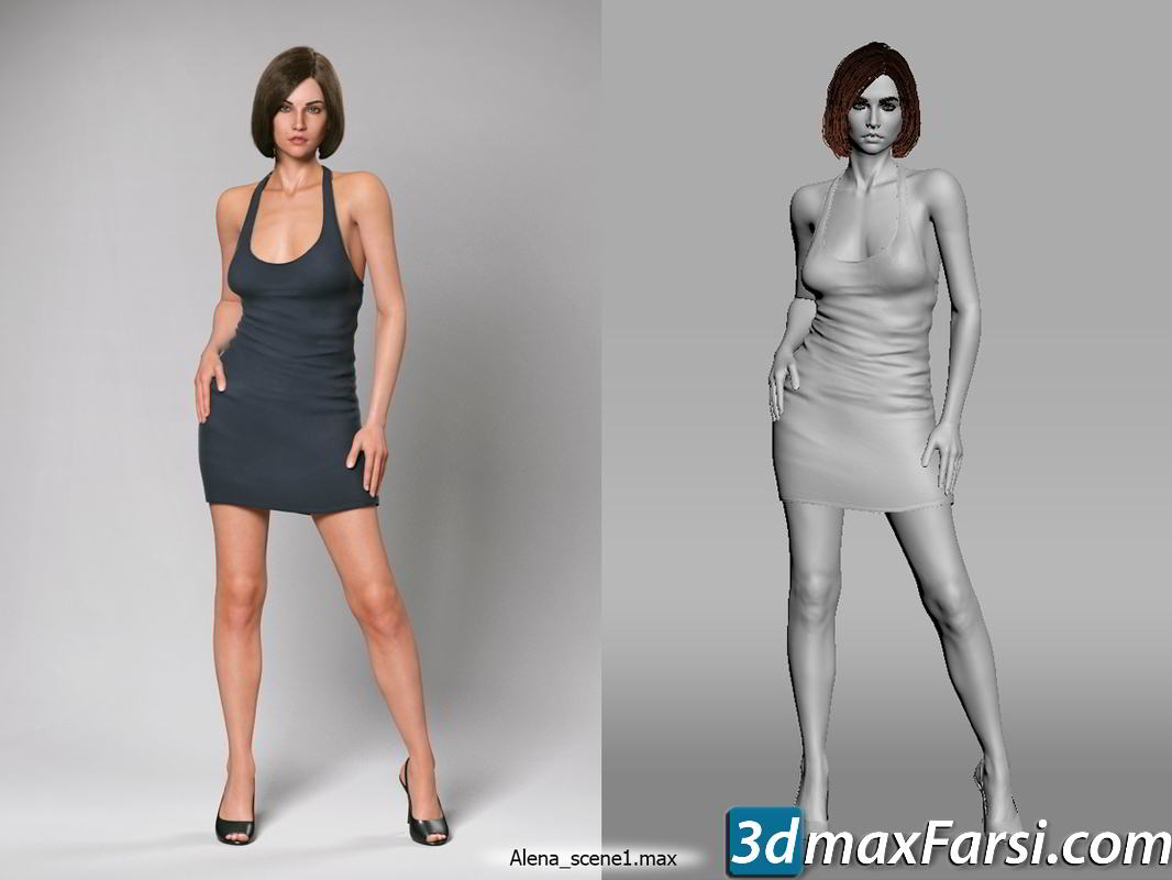 Alena (Zelax3d) free download 3ds Max, FBX characters, people, woman
