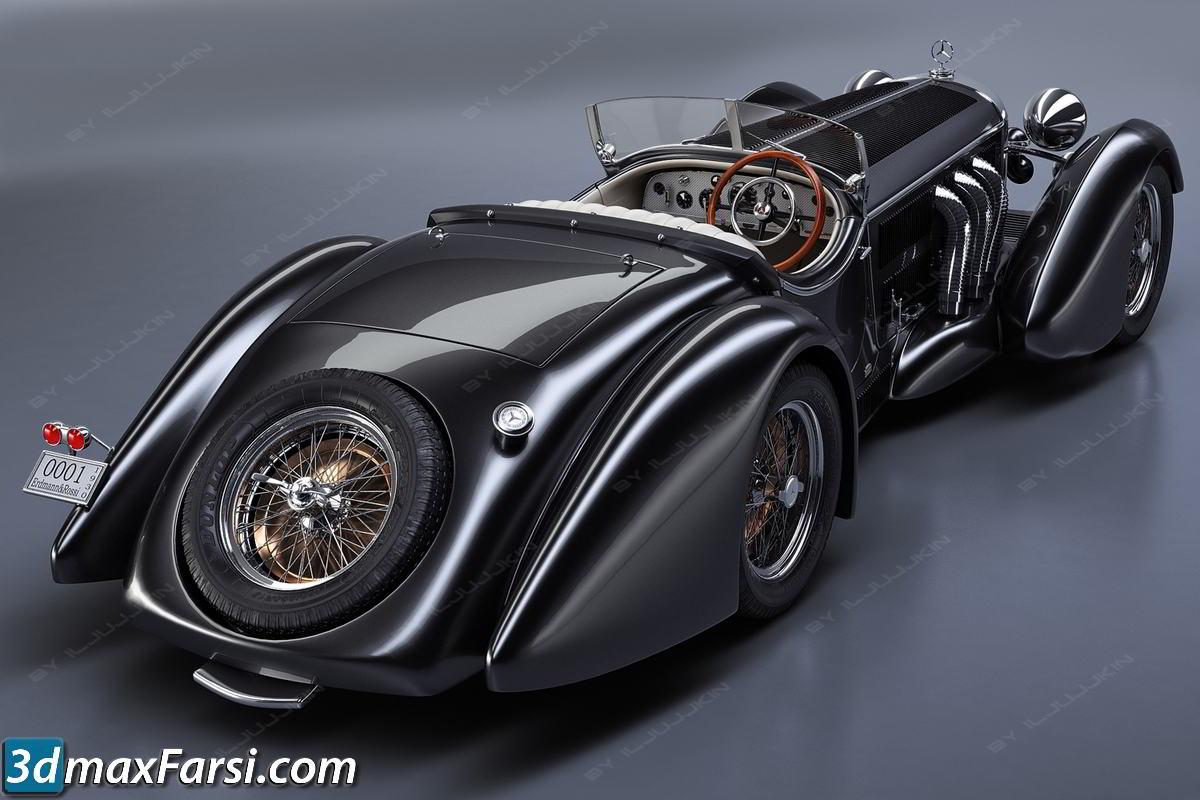 Mercedes-Benz SS Roadster 1930 Erdmann&Rossi retro legend sport cabriolet free download